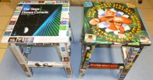 tabourets Sega et Nintendo
